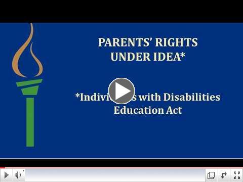 Parents' Rights Under IDEA