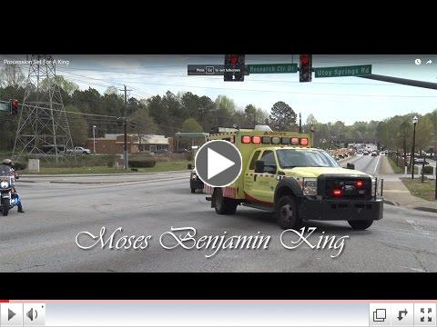 Funeral Procession for HERO Operator Moses King
