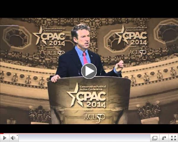 CPAC 2014 - U.S. Senator Rand Paul (R-KY)
