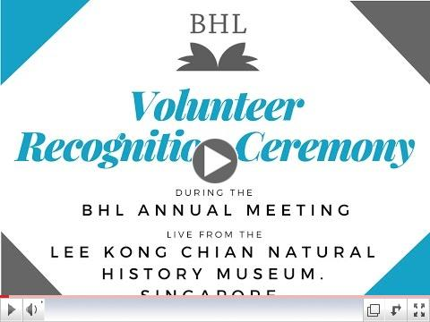 BHL Volunteer Recognition Ceremony