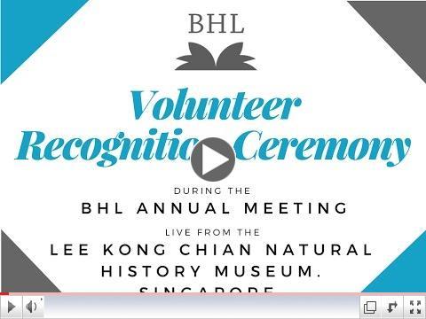 BHL Volunteer Recognition Ceremony