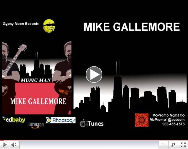 Chicago Blues musician Mike Gallemore digital release album  Music Man on Gypsy Moon Records