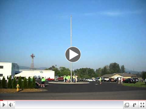 Flag Raising Ceremoney at WAAAM 10 Sept 2011- M3A1 Stuart Tank  & Bagpipes