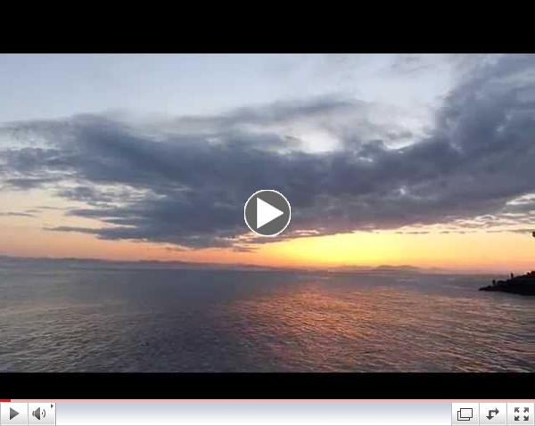 Beautiful west side sunset with J Pod! June 1, 2014 - Lime Kiln State Park