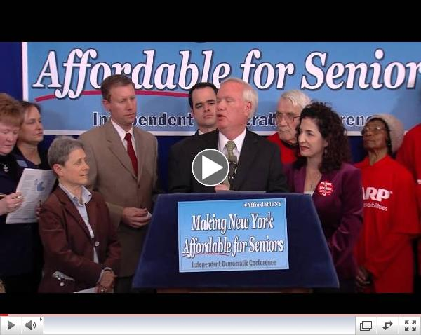 Senate IDC News Conference on Making New York Affordable for Seniors - 03/19/14