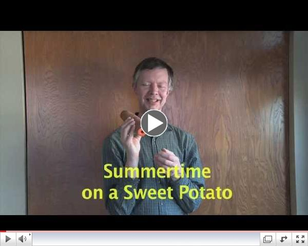 Summertime On A Sweet Potato Cornetto