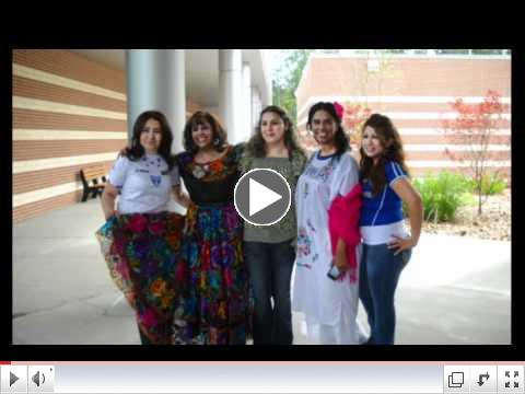 Students, as well as faculty and staff, at LSC-Conroe Center enjoyed cultural displays, attire, food and dancing during the center's first-ever Global Awareness Day.