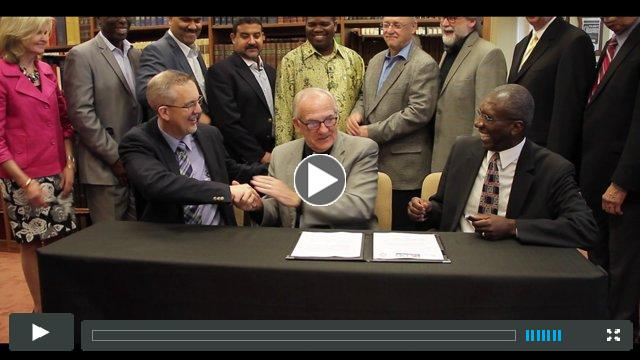 Watch video footage from the agreement signing.