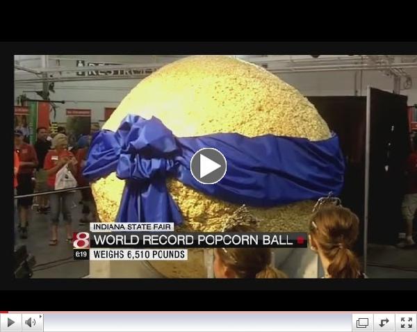 World's Largest Popcorn Ball unveiled