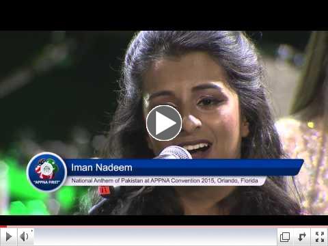 National Anthem of Pakistan at APPNA 38th Annual Convention 2015, Orlando, Florida