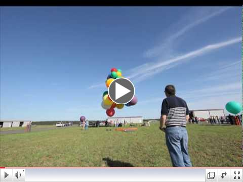 Jonathan Trappe's Guinness Record Cluster Balloon launch time lapse