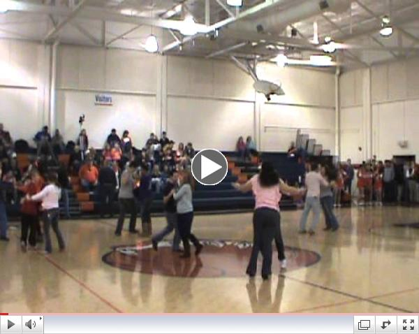 Salsa Flashmob - Fayetteville High School - First time ever - Jan 25, 2013