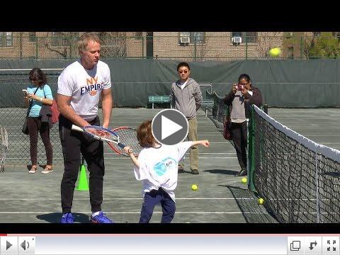 Patrick McEnroe, Christina McHale host kids clinic