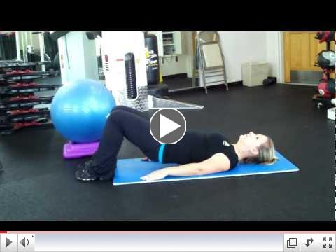 Fitness Pointe Glute Bridge Progression