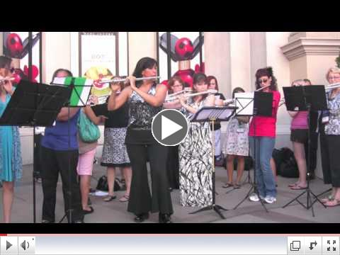 Stars and Stripes Forever, Viviana's Las Vegas Flute Flash Mob