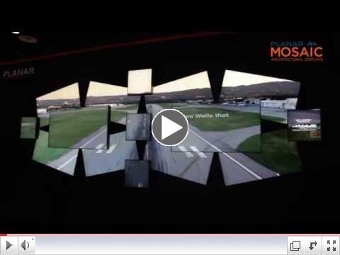 Planar Mosaic Architectural Video Walls