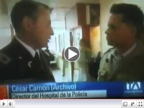 28 de octubre del 2010. Detienen al coronel César Carrión