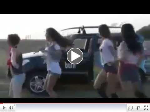 This plane joins dance with these girls