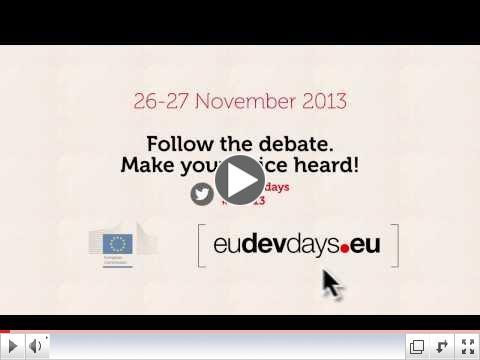 European Development Days 2013 - Make your voice heard!