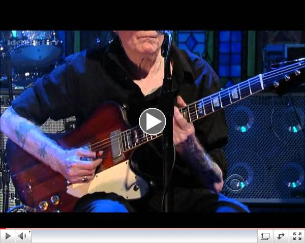 Johnny Winter - Dust My Broom - David Letterman  1-12-12