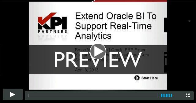 PREVIEW: Extend Oracle BI To Support Real-Time Analytics