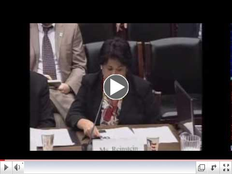 Linda Reinstein Testimony at U.S. House Subcommittee Hearing on Examining Need for TSCA Reform