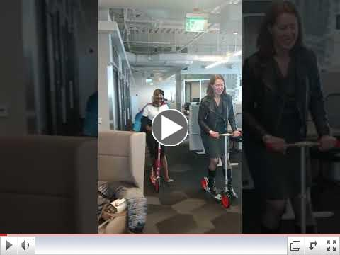 Jane Rides Scooters with Microsoft US President and CVP - Kate Johnson