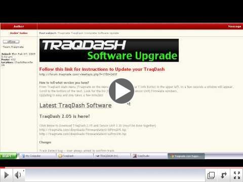 Updating Firmware TraqDash