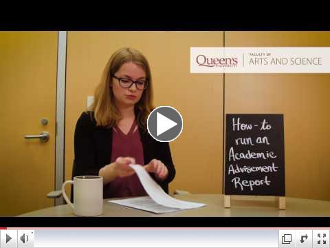 How to run an Academic Advisement Report