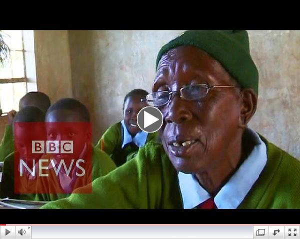 Is this the world's oldest pupil?/ BBC