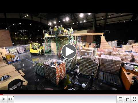 Building the Canstruction Combine -- Time Lapse Video