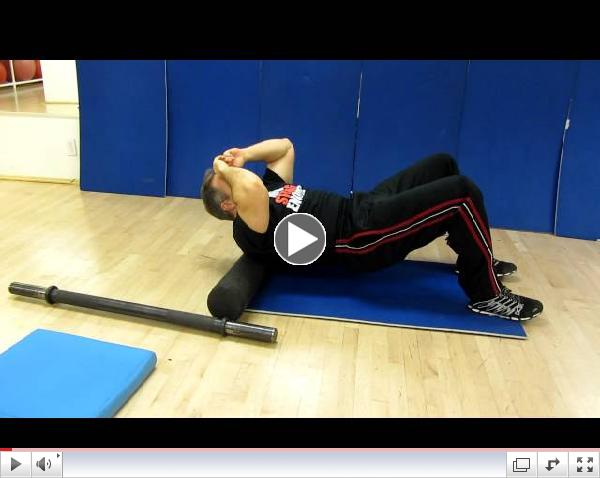 T-spine extension on foam roller