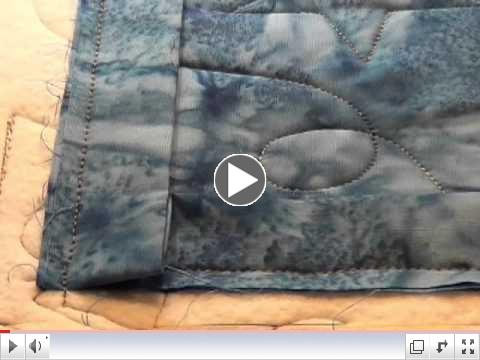 Stitching Binding on with the Longarm