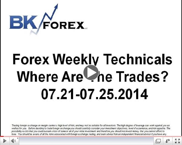 Forex Weekly Techs Where Are The Trades?  07.21-07.25.2014