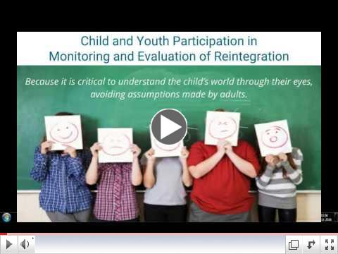 Child and Youth Participation in Monitoring and Evaluation of Reintegration