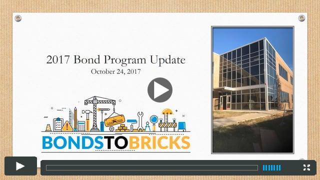 2017 Bond Program Update - October