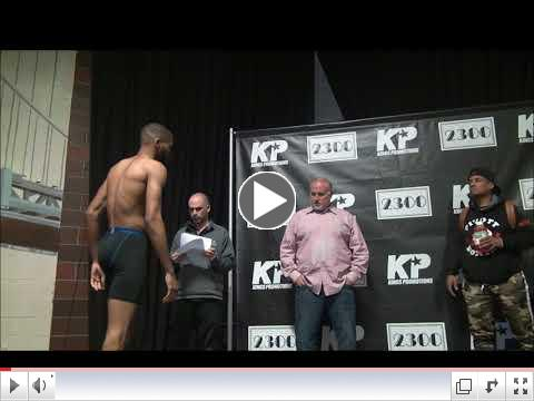 King's Promotions weigh-in, April 5, 2018
