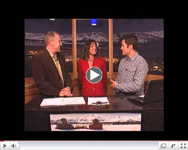Lake Tahoe TV with Pine Cone Resort's Robert Taylor  and AtTahoeWedding's Sherrie Atkinson-Donnell
