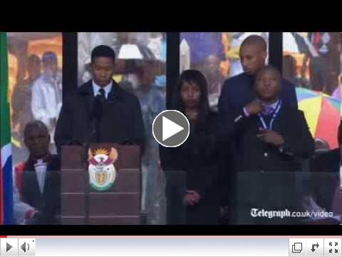 'Fake' interpreter at Nelson Mandela memorial