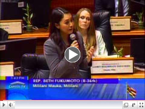 Rep. Fukumoto Chang addresses HB 134 County Surcharge on State Tax