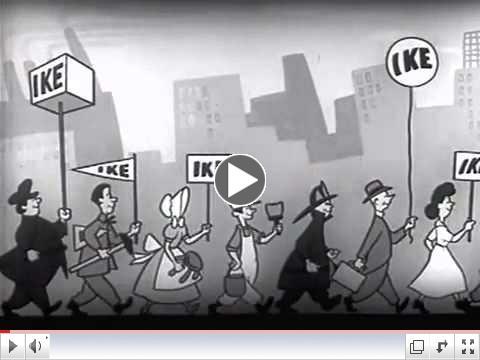 1952 Eisenhower Political Ad - I Like Ike - Presidential Campaign Ad