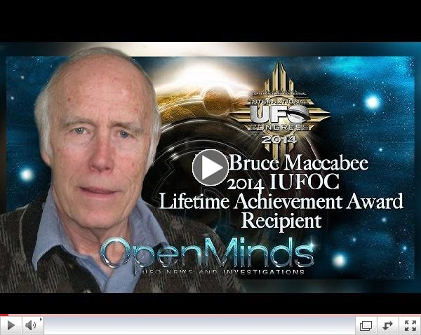 Dr. Bruce Maccabee 2014 IUFOC Lifetime Achievement Award