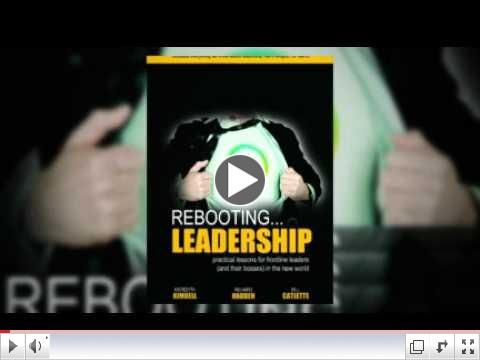 Check out the coolest video ever - Rebooting Leadership. Then look at the last article below for a REALLY valuable offer