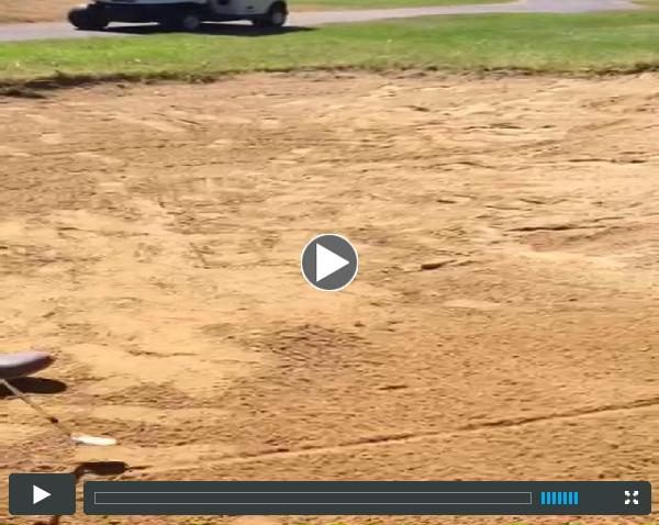A tip to get your golf ball out of the bunker