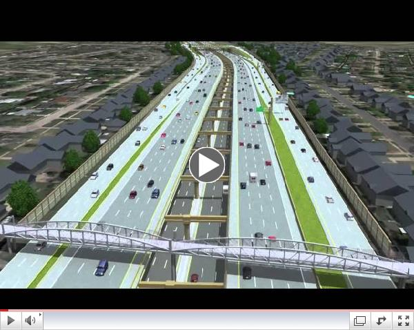 LBJ Express - Full Project Fly-Over