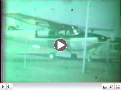 Pearland Regional Airport (LVJ) Vintage Home Movie - 1957 -