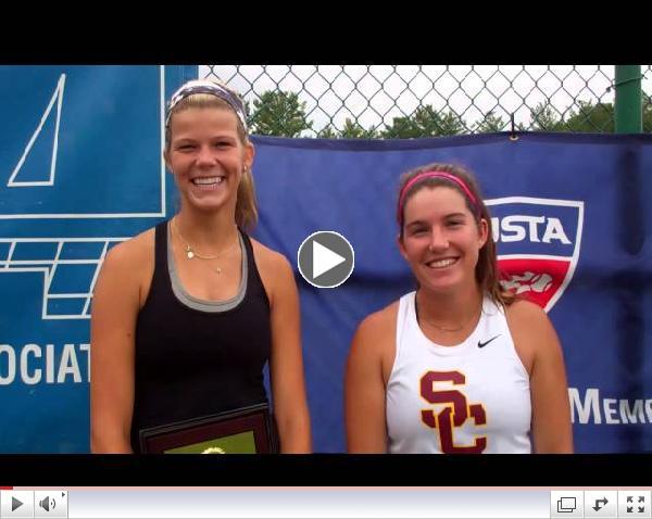 Women's Doubles Champions: Madison Westby & Zoe Katz, USC