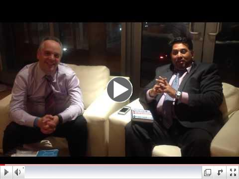 Jim Pagiamtzis interviewing Randy Ramdhin on Cash flow game