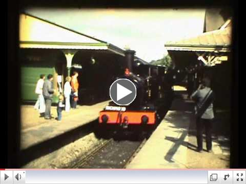 Bluebell Railway in 1984, converted from S8 film, by