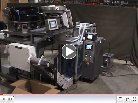 Bagmaster F-178 Vertical Form Fill & Seal Bagger integrated to Batchmaster Counter